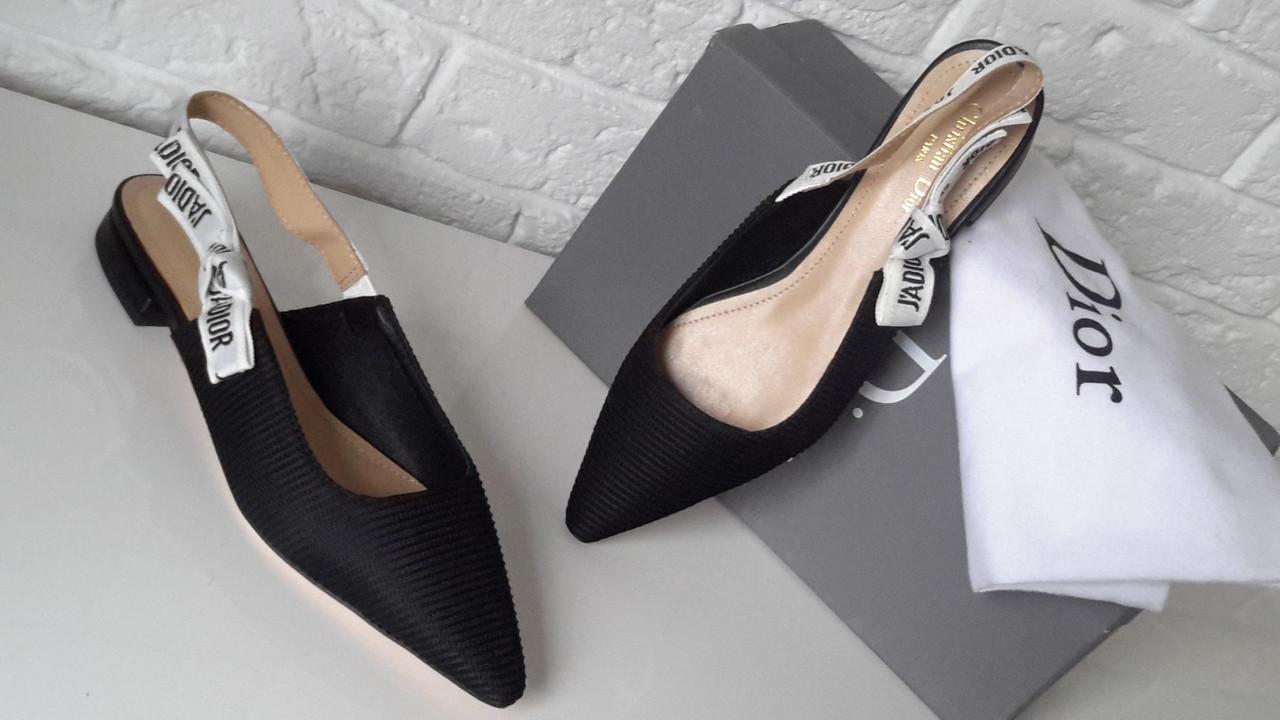 a91bf10000db Босоножки женские Christian Dior, на низком ходу , цвет черный, 38-40 -