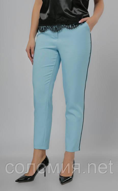 Ультрамодные укороченные брюки с тонким контрастным кантом 42-48р