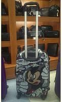 """Пластиковый детский чемодан 20""""  Серый, фото 1"""