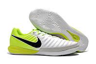 Футзалки (бампы) Nike TiempoX Finale IC White/Black/Volt, фото 1