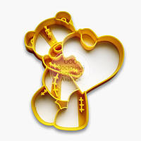 """3D форми для пряників - Вирубка """"Ведмедик Тедді №1"""""""