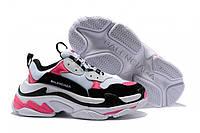 Женские кроссовки Balenciaga Triple-S Sneaker White/Black/Pink