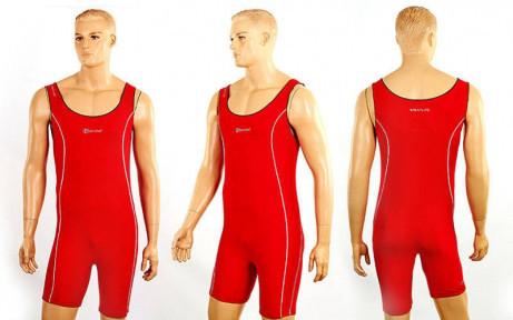 Трико для борьбы и тяжелой атлетики, пауэрлифтинга PRIMA CO-04 красный (полиамид, эластан,L-2XL)