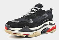 Женские кроссовки Balenciaga Triple-S Sneaker Black/White/Red