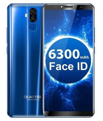 "Смартфон OUKITEL K6 Blue, 6/64Gb, 2sim, экран 6"" IPS, 16+8/8+8Мп, 6300mAh, GPS, 4G, 8 ядер, Сканер лица"