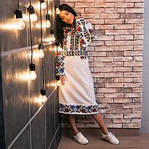Женское платье с вышивкой Белоснежная нежность, фото 2