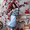 Женское вышитое платье Голубая нежность, фото 5