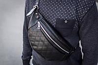 Поясная сумка бананка mod.Cruzor кожаная черный, фото 1