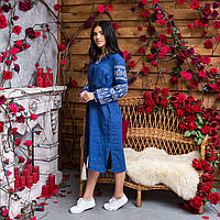 Платье вышиванка из льна женское Кружево 406c2fb73a8ed