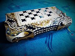 Шахматы-нарды в резьбе подарочные, фото 3