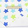 Детская непромокаемая пеленка 70х50 см с мягким ворсом (байковая) двухсторонняя многоразовая 3914 Бирюзовый