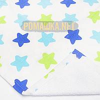 Детская непромокаемая пеленка 70х50 см с мягким ворсом (байковая) двухсторонняя многоразовая 3914 Бирюзовый, фото 1