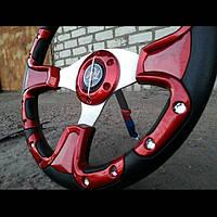Руль автомобильный №609 (красный)., фото 1