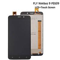 Дисплей (экран) для Fly FS509 Nimbus 9 + тачскрин, черный, CM50163FPCV00