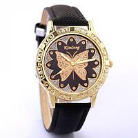 Наручные часы с бабочкой - черные