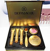 Тональный крем Dermacol набор, 3 тональных крема+кисть+пудра+румяна, Набор косметики Dermacol