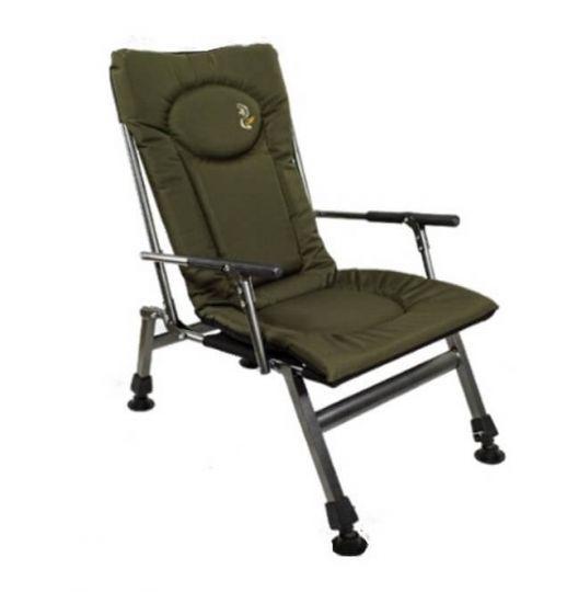 Кресло карповое Elektrostatyk F8R с подлокотниками и фиксированной спинкой (до 110 кг)