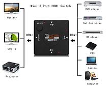 HDMI світч 3 порти спліттер