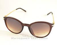 Женские солнцезащитные очки Giorgio Armani качественные коричневые качество армани реплика