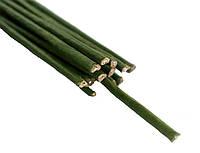 Флористическая проволока Зеленая 3.5 мм 40 см 10 шт/уп в бумажной оплетке