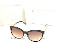 Женские солнцезащитные очки Versace коричневые Версаче новая модель 2019 год качество версачи копия