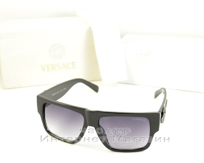 Жіночі сонцезахисні окуляри Versace чорна маска якість модель 2020 року репліка