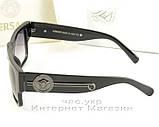 Жіночі сонцезахисні окуляри Versace чорна маска якість модель 2020 року репліка, фото 3