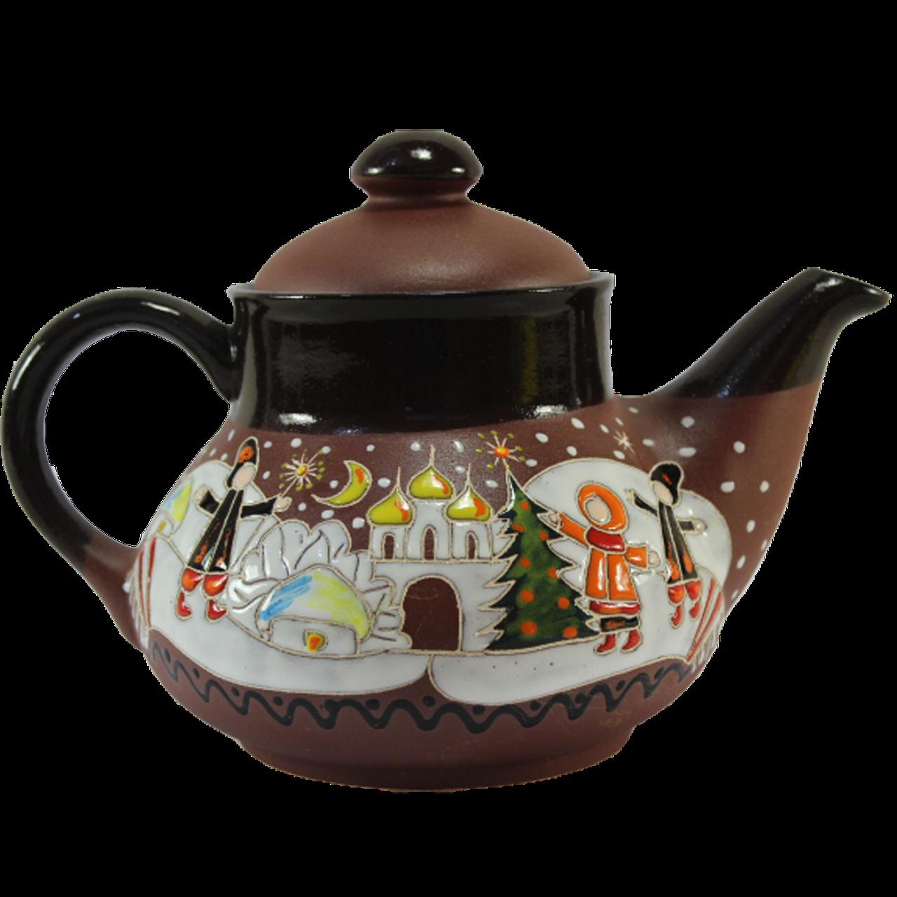 """Чайник керамический """"Рождество"""""""