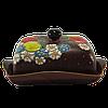Масленка керамическая «Яблоки в цветах»