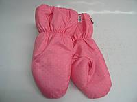 Варежки на меху - розовые точка