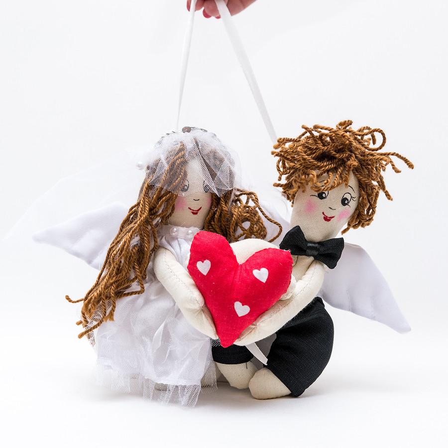 Свадебные куклы Валентины  миниатюре.
