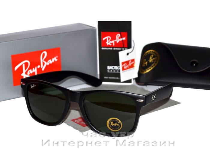 Солнцезащитные очки Ray Ban Wayfarer RB 2140 Стекло унисекс рей бен мужские  и женские реплика - b56da69259b