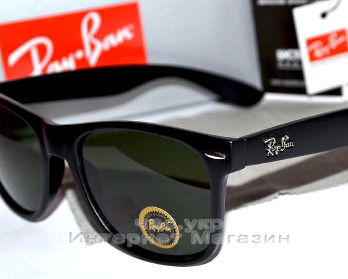 Солнцезащитные очки Ray Ban Wayfarer RB 2140 Стекло унисекс рей бен мужские  и женские реплика 6fdce38f093fe