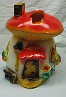 Фигурка декоративная Гриб домик 33 см