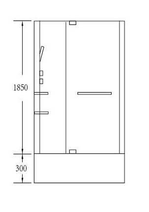 Гидробокс Miracle NA114-3 100х80х215 см, фото 2