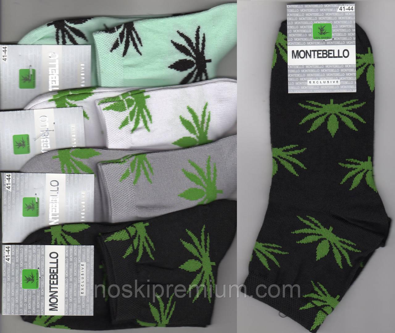 Носки мужские демисезонные х/б Montebello с приколами, 41-44 размер, средние, ассорти, 02138