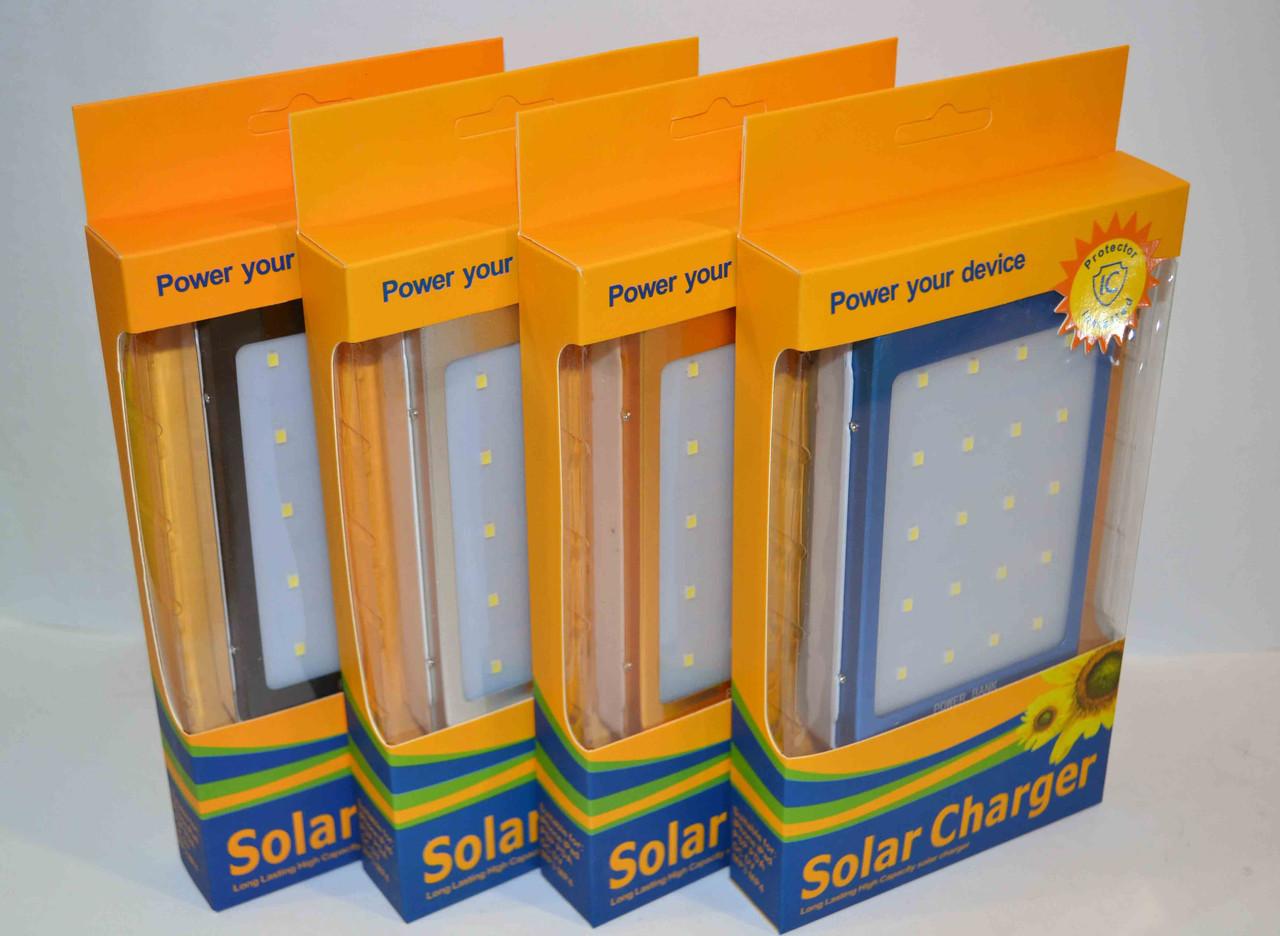 Павер Банк на солнечной батарее SOLAR c LED 50 000 mAh+ Фонарь