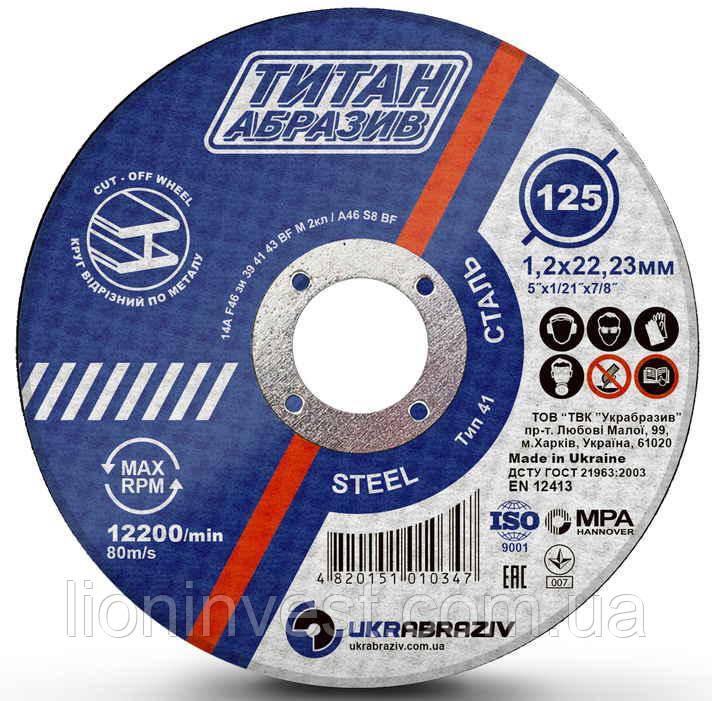 Диск по металлу Titan Abraziv 125х1.2