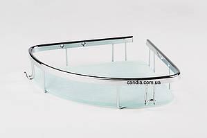 Полка в ванную со стеклом 22 х 22 см