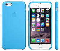 Чехол-накладка для iPhone 5С силиконовый голубой