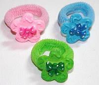 Набор резинок для волос, разные цвета, цветок с бантом(12 шт) 11_13_72