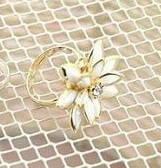 Кольцо Цветок - желтое