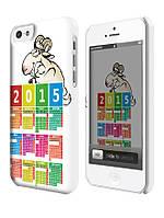 Чехол для iPhone 4/4s/5/5s/5с календарь на  2015