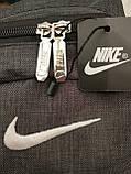 Рюкзак nike/SB Хорошее качество ткань катион матовый с кожаным дном спортивный городской стильный только ОПТ, фото 5