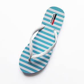 Модные шлепанцы для девочек Super Gear - №3873, Цвет голубой, Размер 34