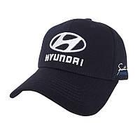 Автомобильная кепка с логотипом Hyundai - №3852, Цвет синий