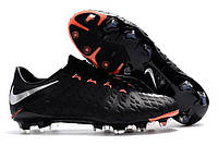 Футбольные бутсы Nike Hypervenom Phantom III FG Black/Metallic Silver/Black/Anthracite, фото 1
