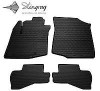 Резиновые коврики Stingray Стингрей CITROEN C1 II 2014- Комплект из 4-х ковриков Черный в салон