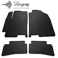 Резиновые коврики Stingray Стингрей Kia Stonic 2017- Комплект из 4-х ковриков Черный в салон