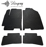 Резиновые коврики Kia Stonic 2017- Комплект из 4-х ковриков Черный в салон